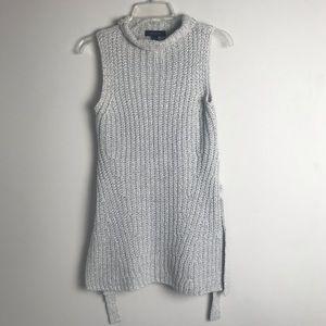 Ann Taylor Small Sweater Light Gray Sleeveless